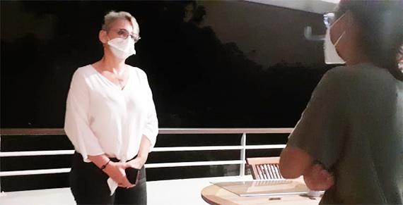 La visite d'un infirmier pour les personnes testées positives au Covid-19